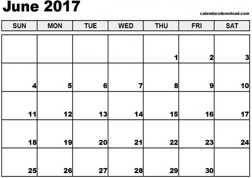 june calendar 2017 Coles.thecolossus.co
