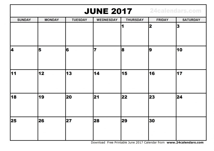 June 2017 Calendar Printable With Holidays | monthly calendar 2017