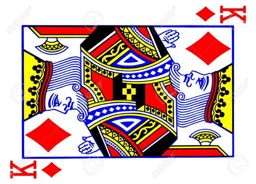 King Of Diamonds Playing Card Stock Photo, Picture And Royalty