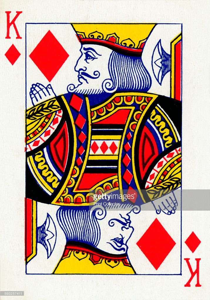 King of Diamonds from a deck of Goodall & Son Ltd Pictures | Getty