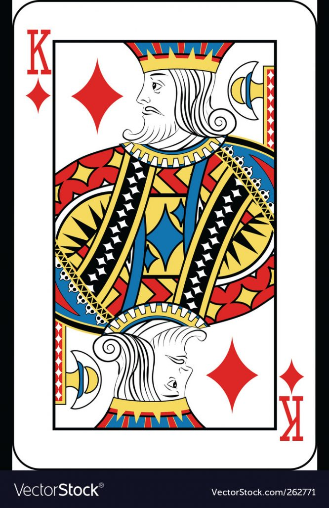 King of diamonds Royalty Free Vector Image VectorStock