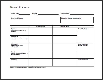 lesson plan templates Baskan.idai.co