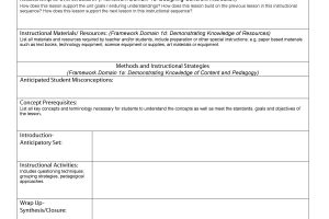 lesson plan templates lesson plan template