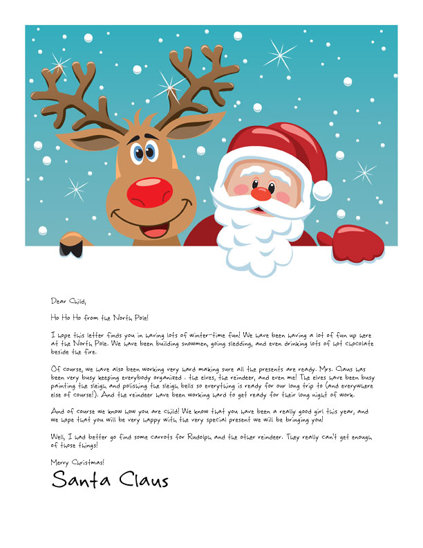 Easy Free Letters from Santa | Customize your text and design and