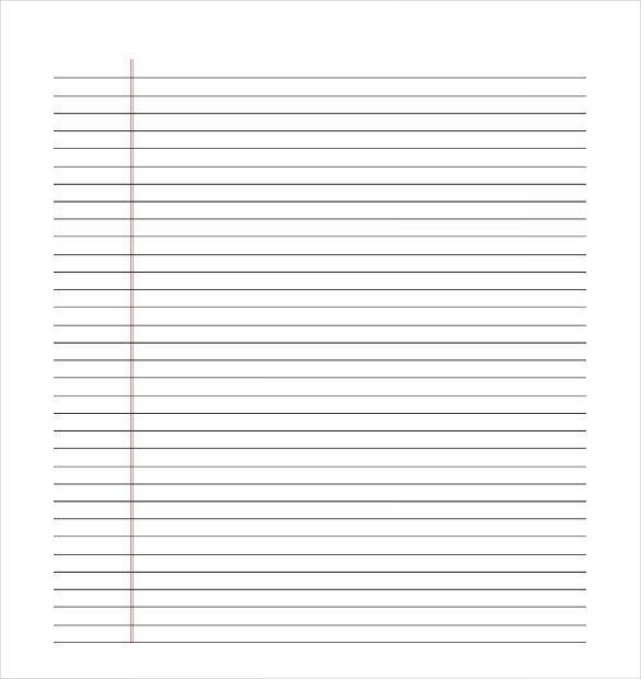 microsoft word notebook paper template lined paper template 12