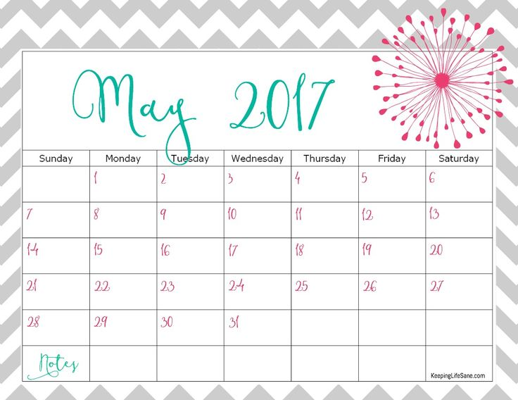 May 2017 Calendar Excel | monthly calendar 2017