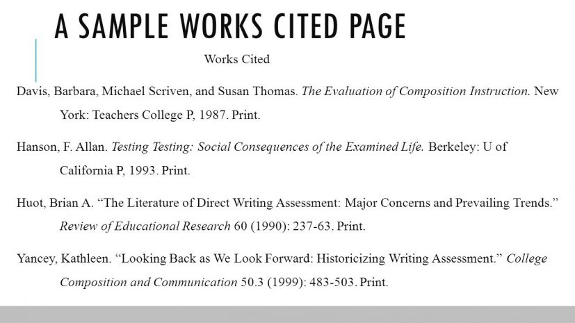 work cited page format mla Coles.thecolossus.co