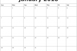 monthly calendar january calendar layout