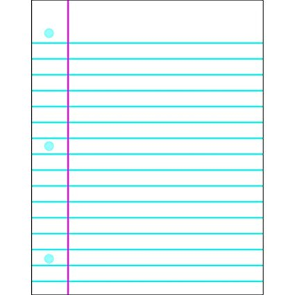 Amazon.: TREND enterprises, Inc. Notebook Paper Wipe Off Chart
