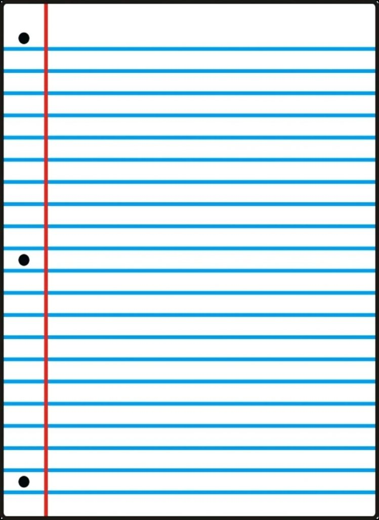 Notebook Paper Wide Ruled | World of Label