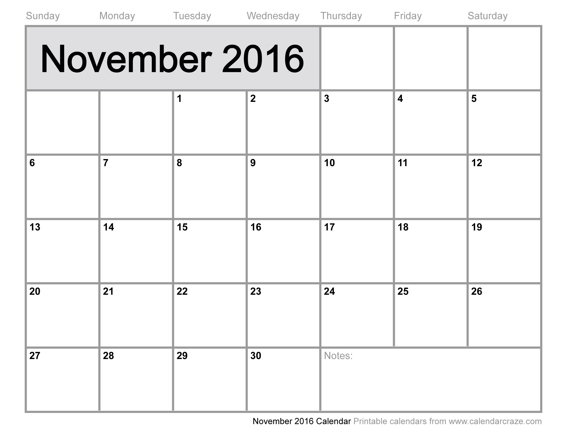 November 2016 Calendar | 2017 calendar with holidays