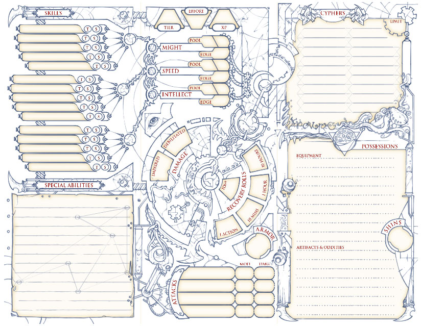 Numenera Character Sheets – Monte Cook Games Store