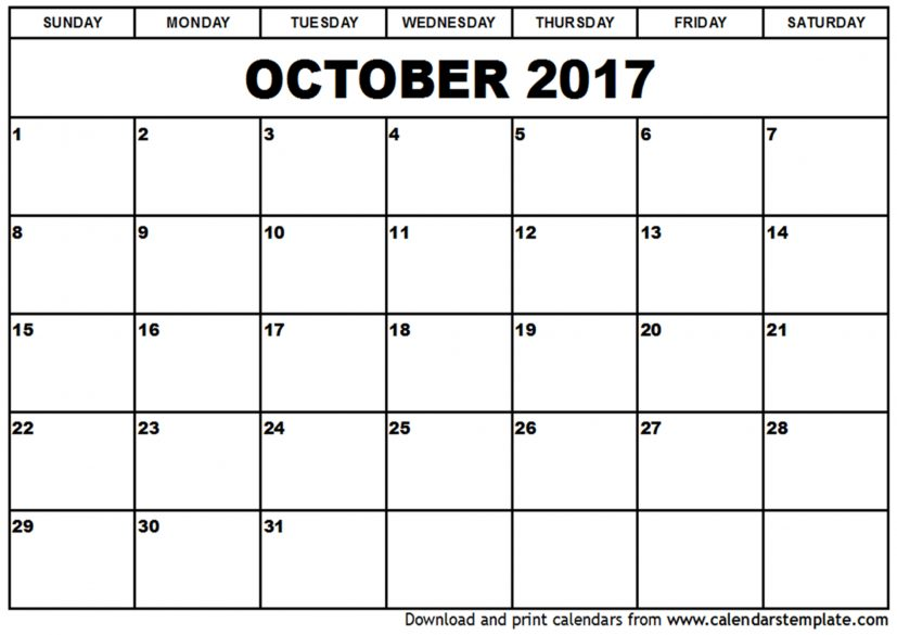 october 2017 calendar pdf october 2017 calendar GevuKz | printable