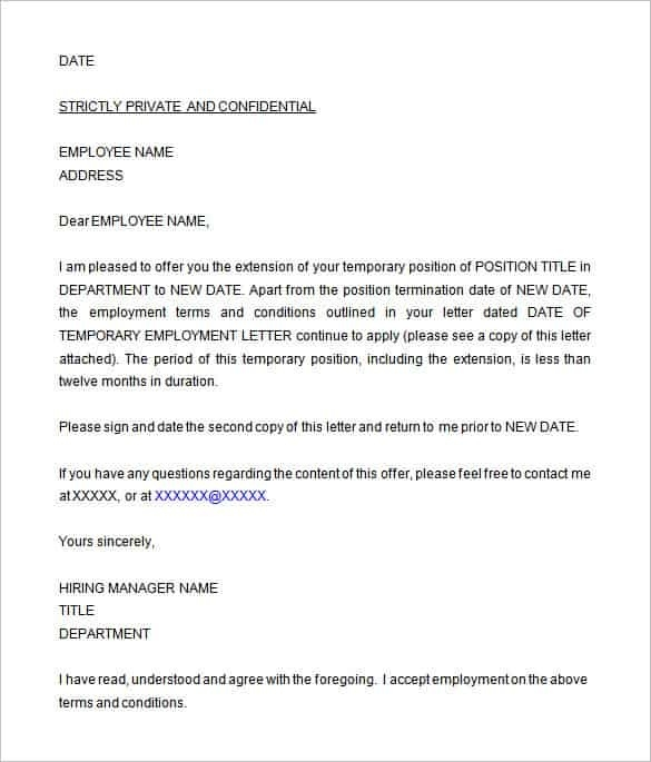 Job Offer Letter Template for Word