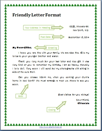 Collection Of solutions Personal Letter to A Friend format