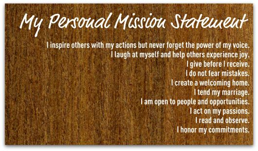 Need help writing a personal mission statement | Writing a