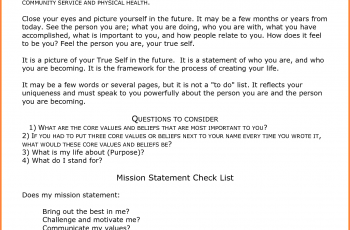 personal mission statement personal mission statement examples for students sample personal mission statement mission statement template tleqrfo