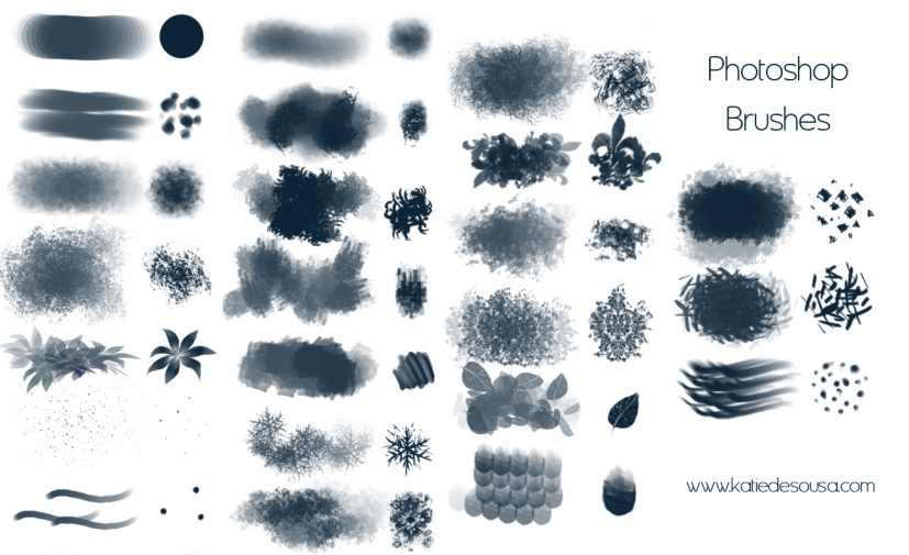 192 Free Ink Brushes for Photoshop Photoshop brushes
