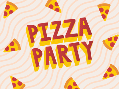 Pizza Party by Josh Sullivan Dribbble