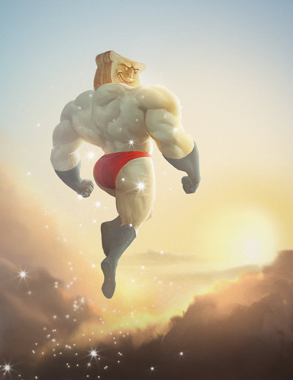 Amazon.com: Kidrobot Powdered Toast Man Medium Figure Collectable