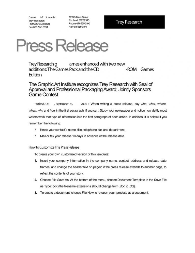 examples of press releases Coles.thecolossus.co