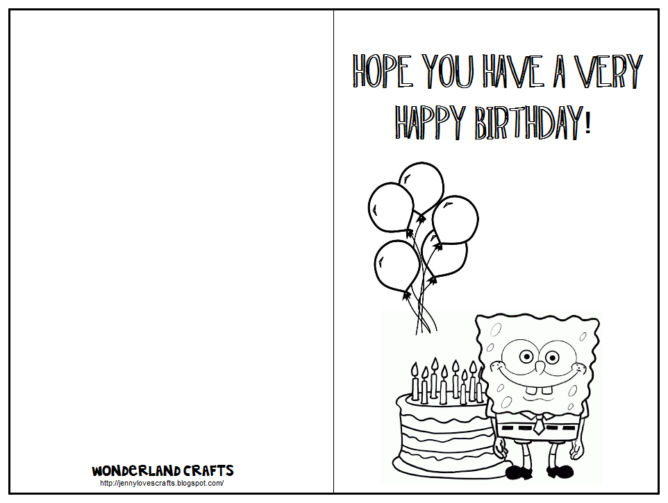 photograph about Printable Birthday Cards to Color titled Printable Birthday Playing cards