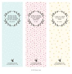 Free Printable Bookmarks | Bookmarks, Free printable bookmarks and