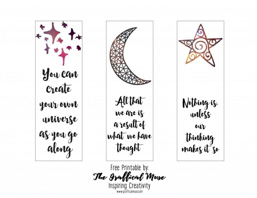 Printable Bookmarks With Quotes Black And White | flogfolioweekly.com