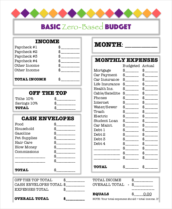 printable budget worksheet pdf Dolap.magnetband.co