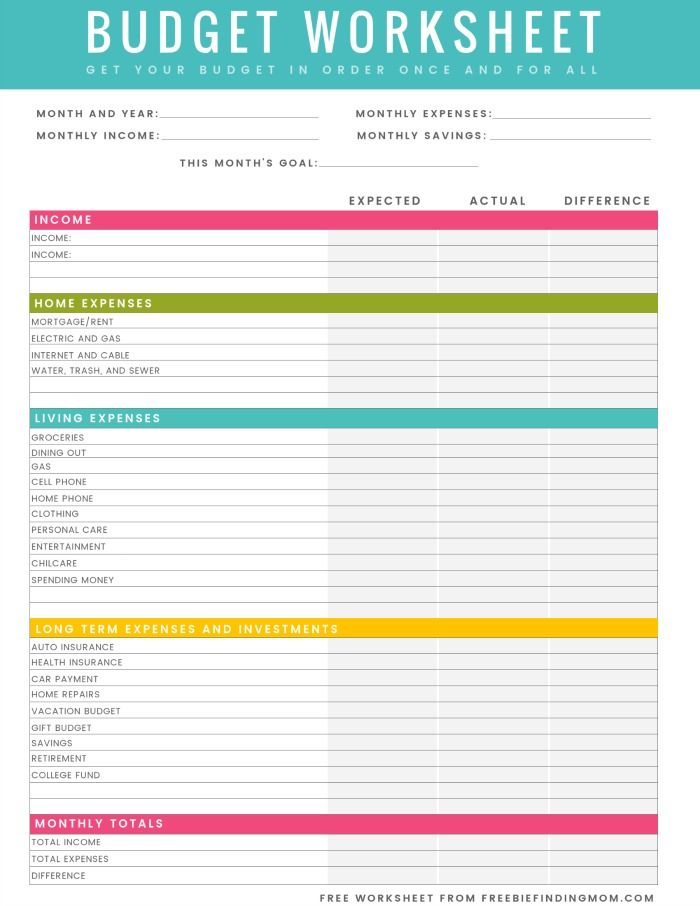 budget worksheet free printable household budget worksheet excel