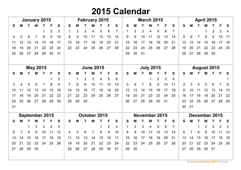 Luxury 2015 Printable Calendar Template | POSERFORUM.NET