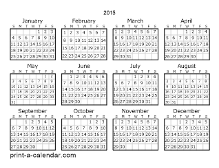 blank printable calendar 2015 Coles.thecolossus.co