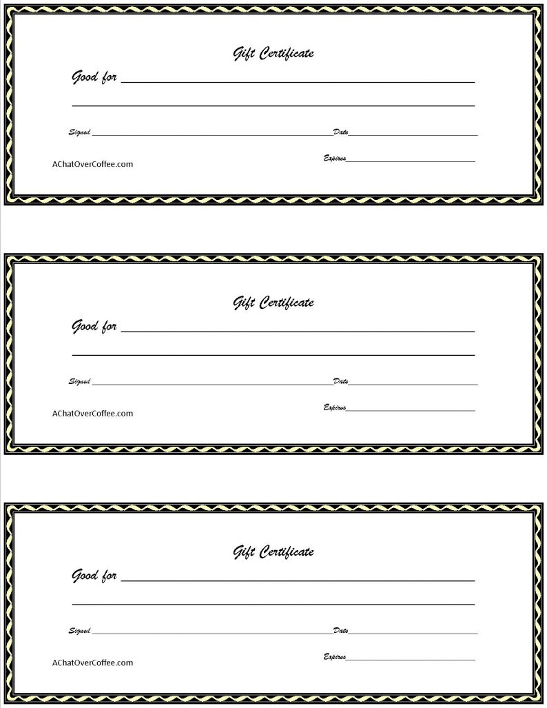printable gift certificate Coles.thecolossus.co