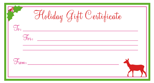 printable gift certificate template blank gift certificates