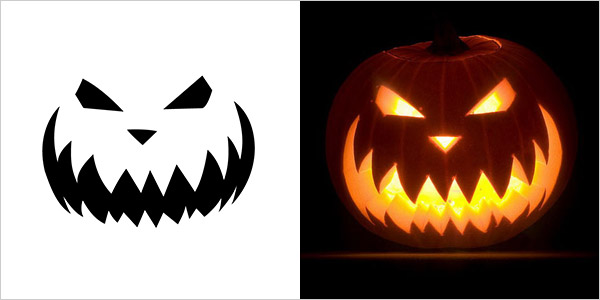 Scary pumpkin templates best pumpkin carving stencils free