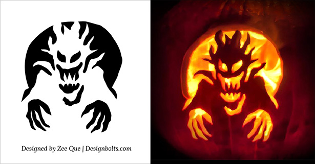 Pumpkin Carving Stencils Templates Free Scary