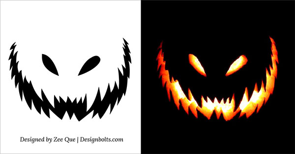 Stencil pumpkin carving 10 free scary halloween pumpkin carving