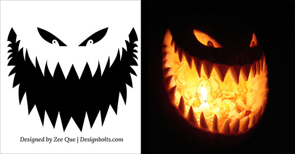 Free scary pumpkin stencils printable 10 free printable scary