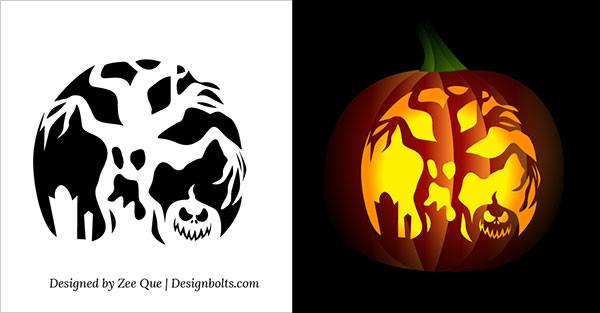 Scary pumpkin stencils free printable 10 free printable scary