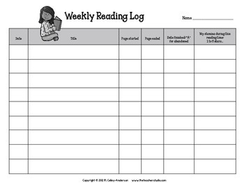 Reading Log Stamina Edition by The Teacher Studio | TpT