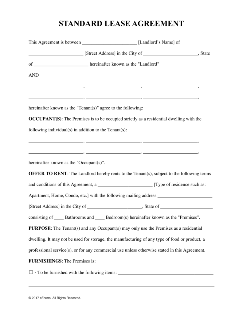 house lease agreement template free residential lease agreement