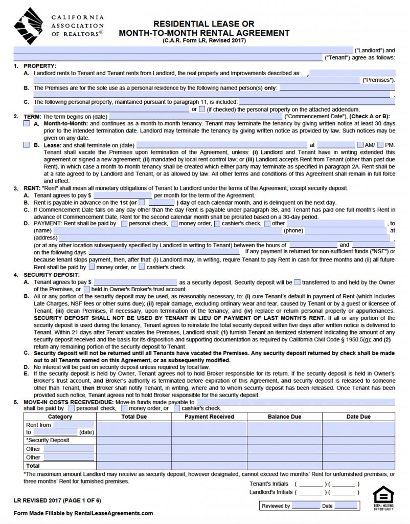 template residential lease agreement template residential lease
