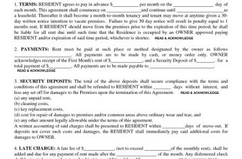 residential lease agreement template residential lease agreement template residential lease agreement best rental agreements ideas