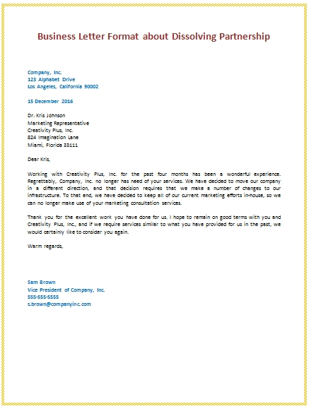Sample Business Letter The Letter Sample Business Letter Sample