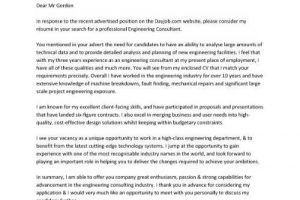 sample cover letter pic engineering cover letter example