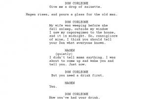 screenplay example sample script page