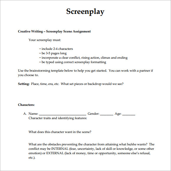 screenplay sample Ideal.vistalist.co