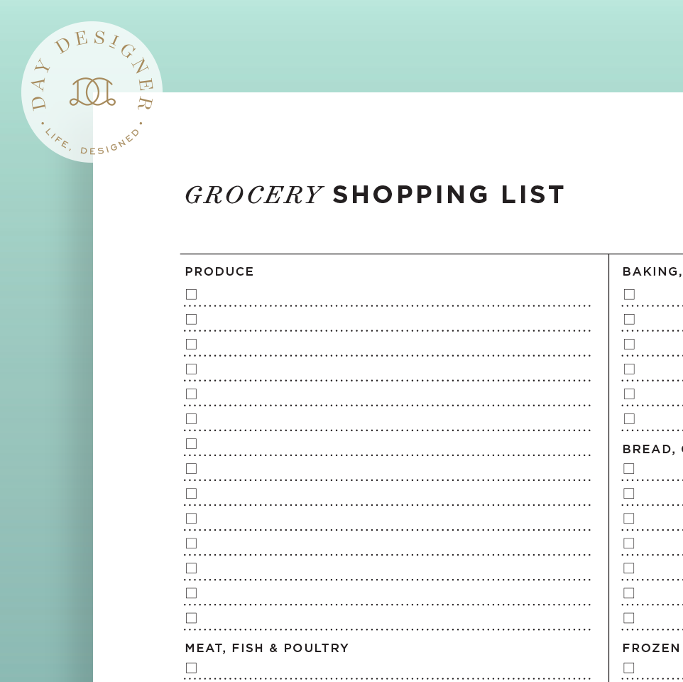 Grocery List – Day Designer
