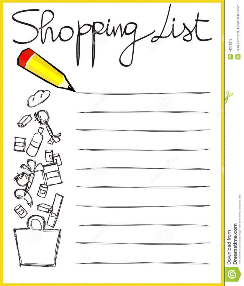 shopping list pictures Ideal.vistalist.co