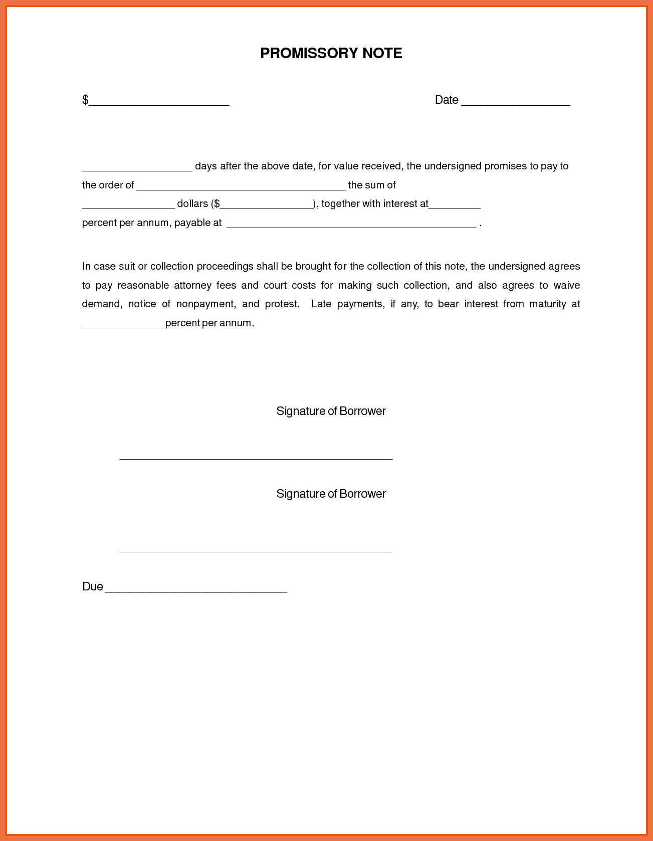 6 7 SIMPLE PROMISSORY NOTE | jobproposalletter